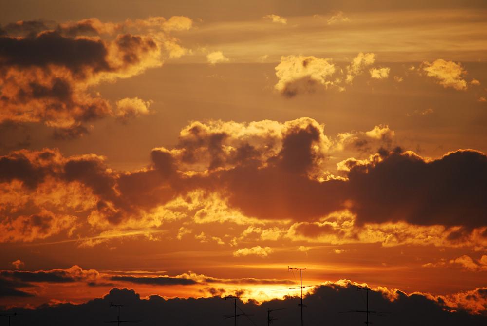 un cielo precioso