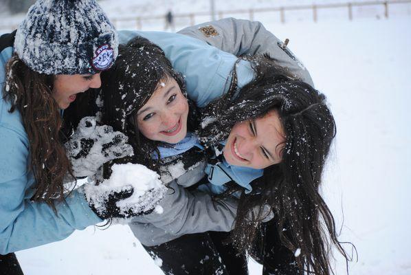 un concours sous la neige