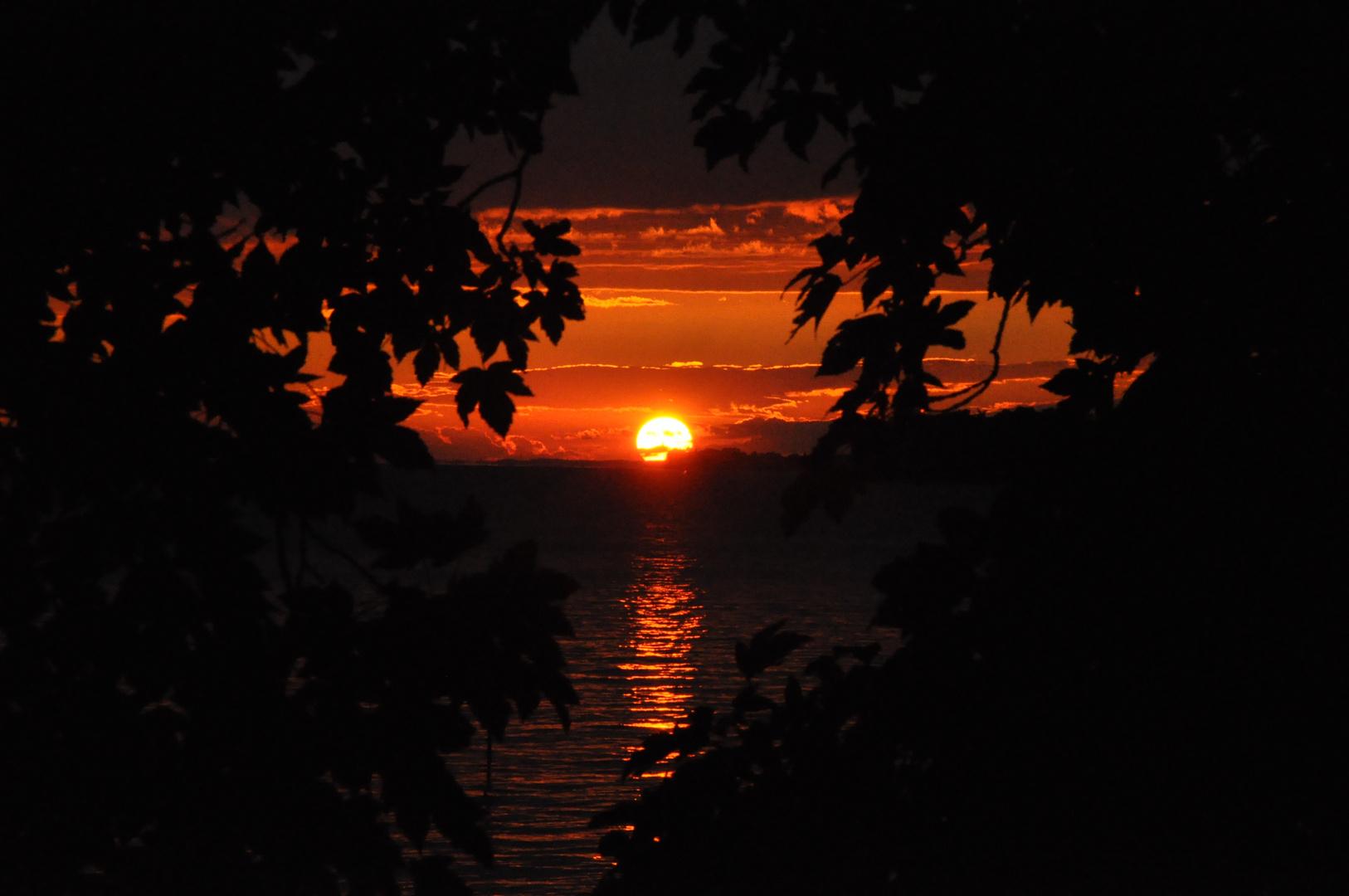 Un coucher de soleil suisse...