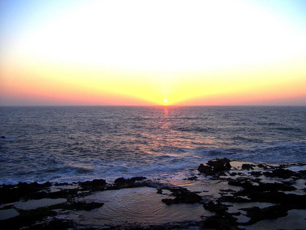 Un Coucher de Soleil sur la Mer