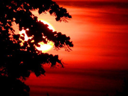 Un coucher de soleil très très chaud