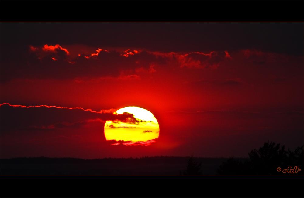 Un coucher du soleil en Saxe