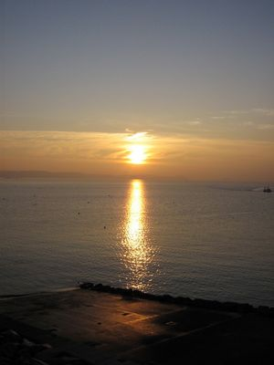 un dernier petit coucher de soleil pour la collec