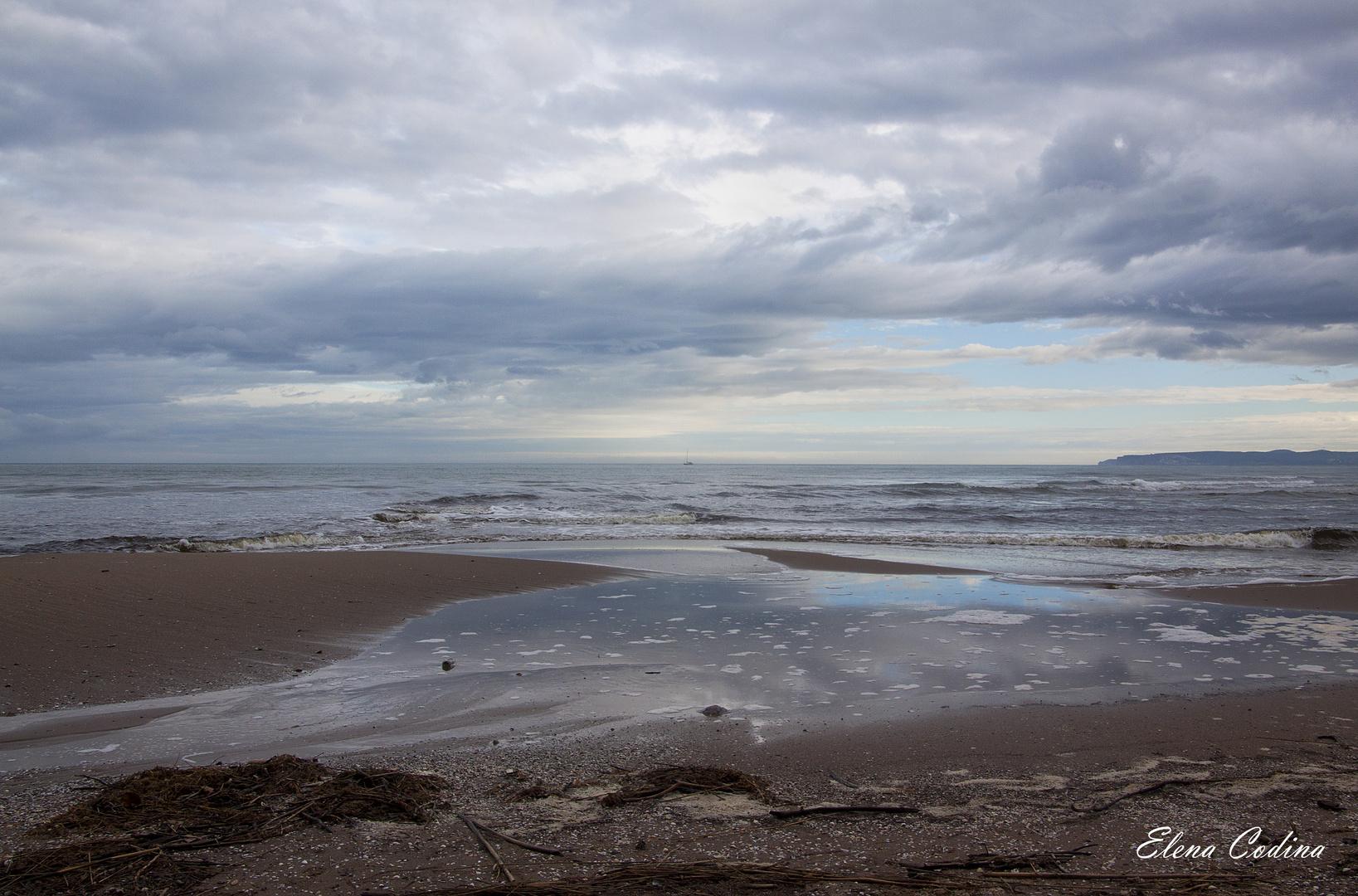 Un día triste en el mar