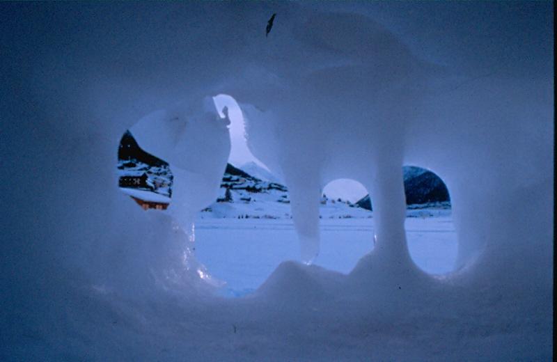 Un foro nel ghiaccio