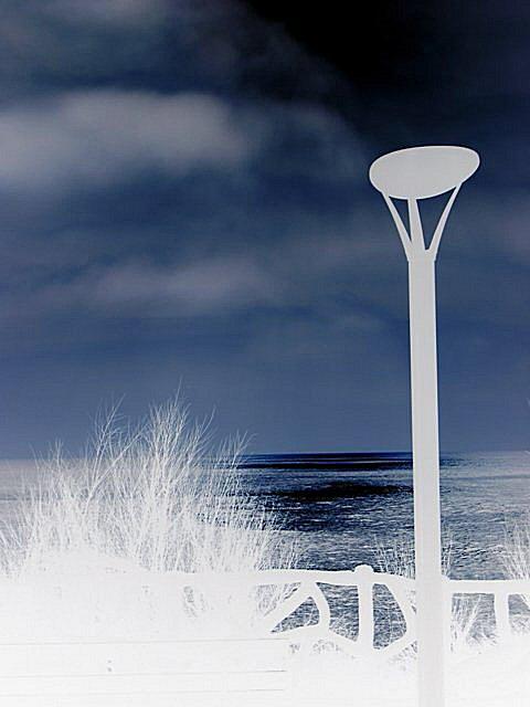 un lampadaire à biarritz