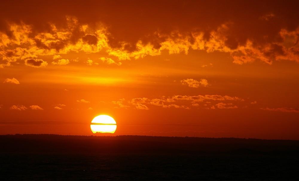 Un lever de soleil...