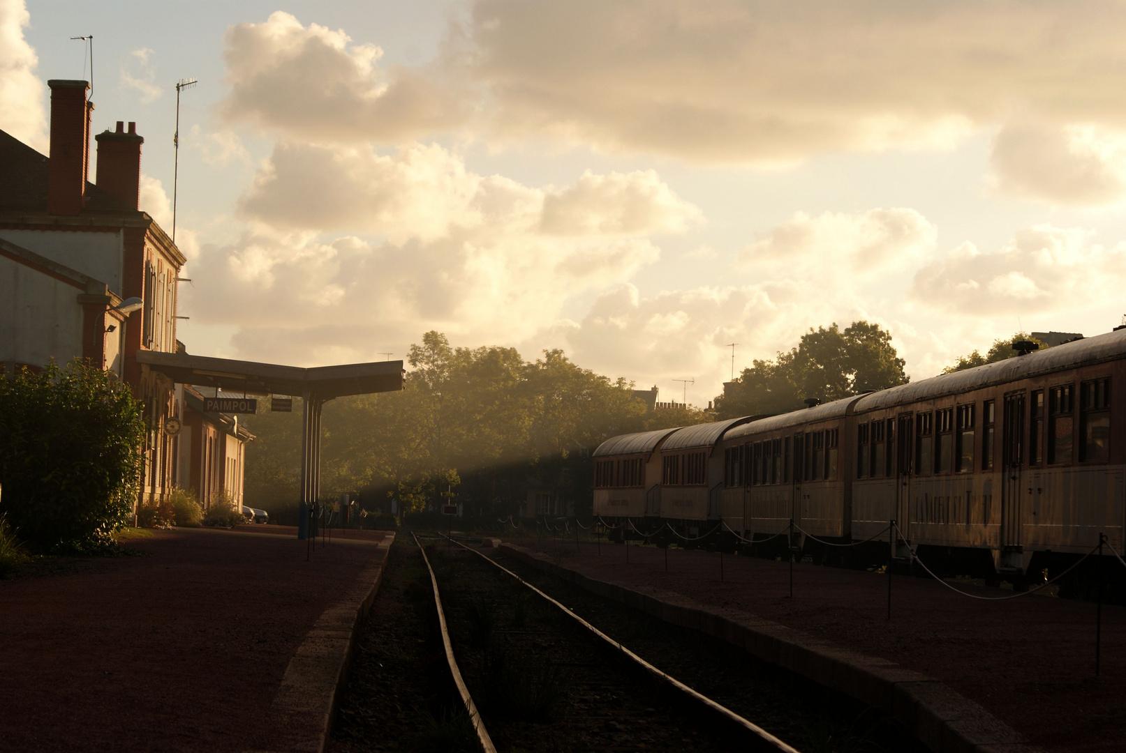 Un matin à la gare