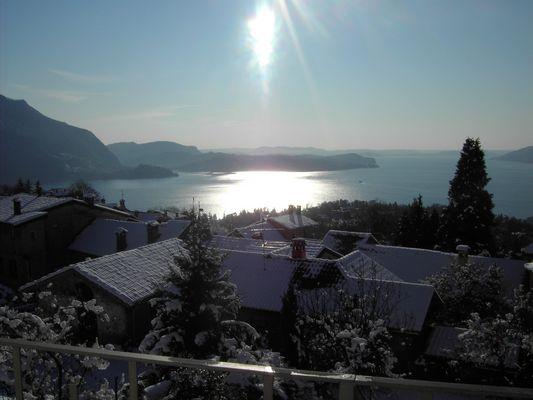 un matin d'hiver sur le Lac Majeur