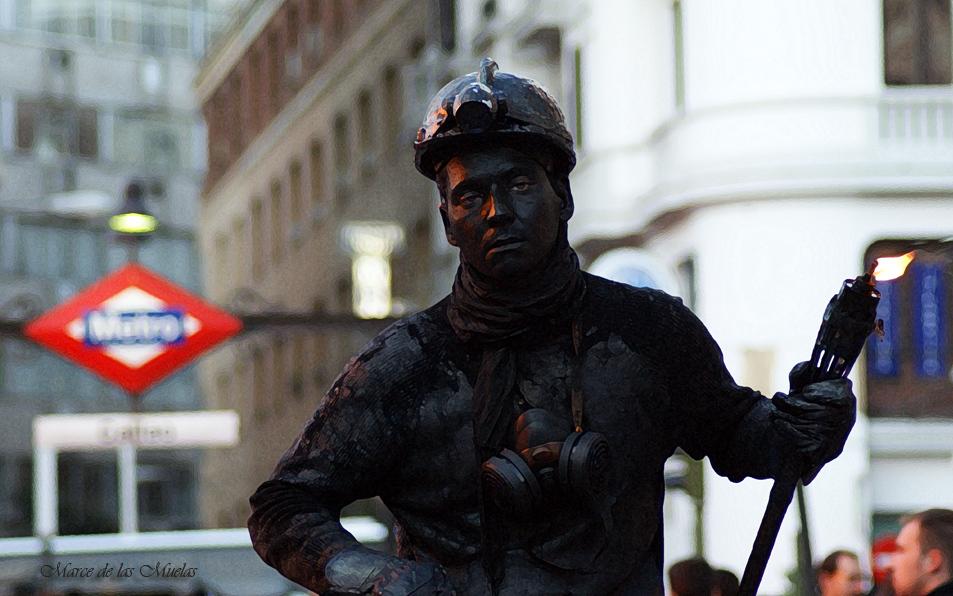...un minero en Madrid...
