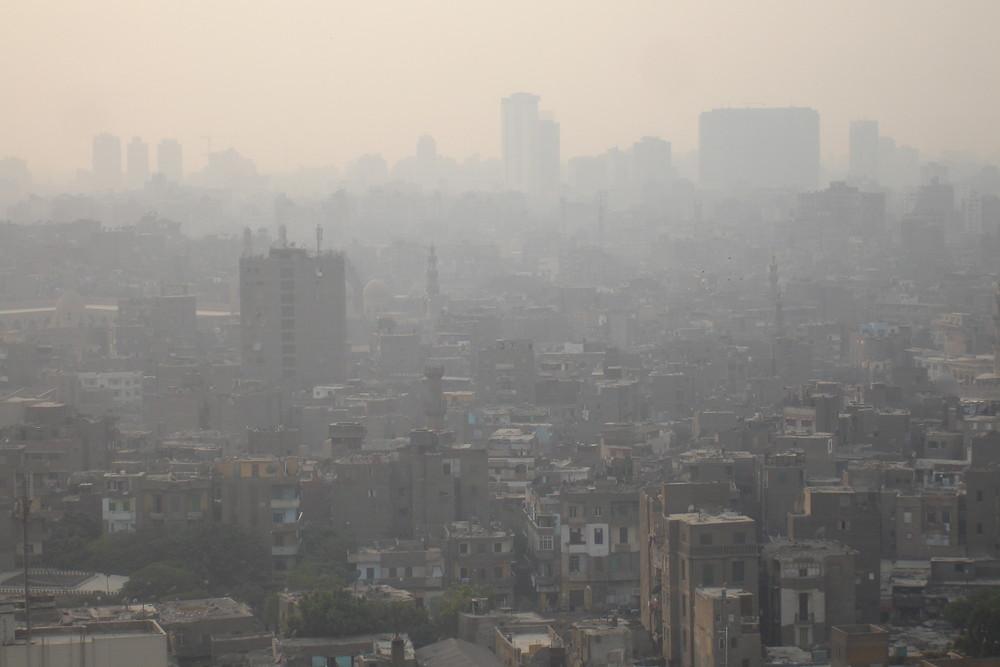 un nuage au dessus du caire,oui mais de pollution