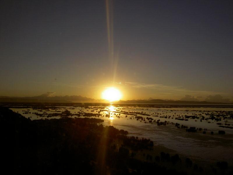 un nuovo giorno sul lago Titicaca