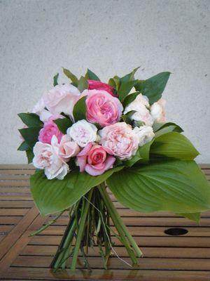 Un petit bouquet de mes roses en attendant le printemps ?