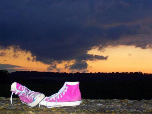 un pied aux ciels
