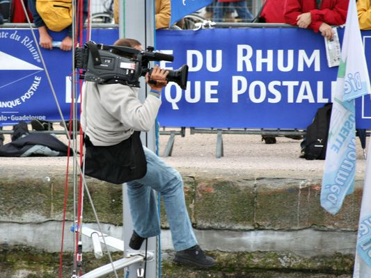 Un reporter acrobate