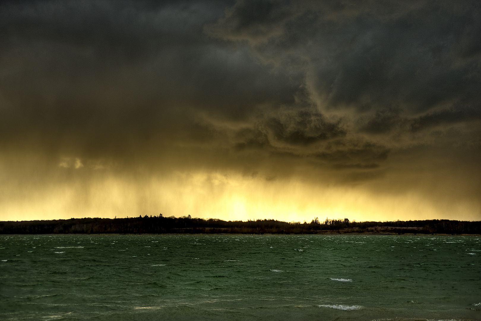 Un rideau de pluie