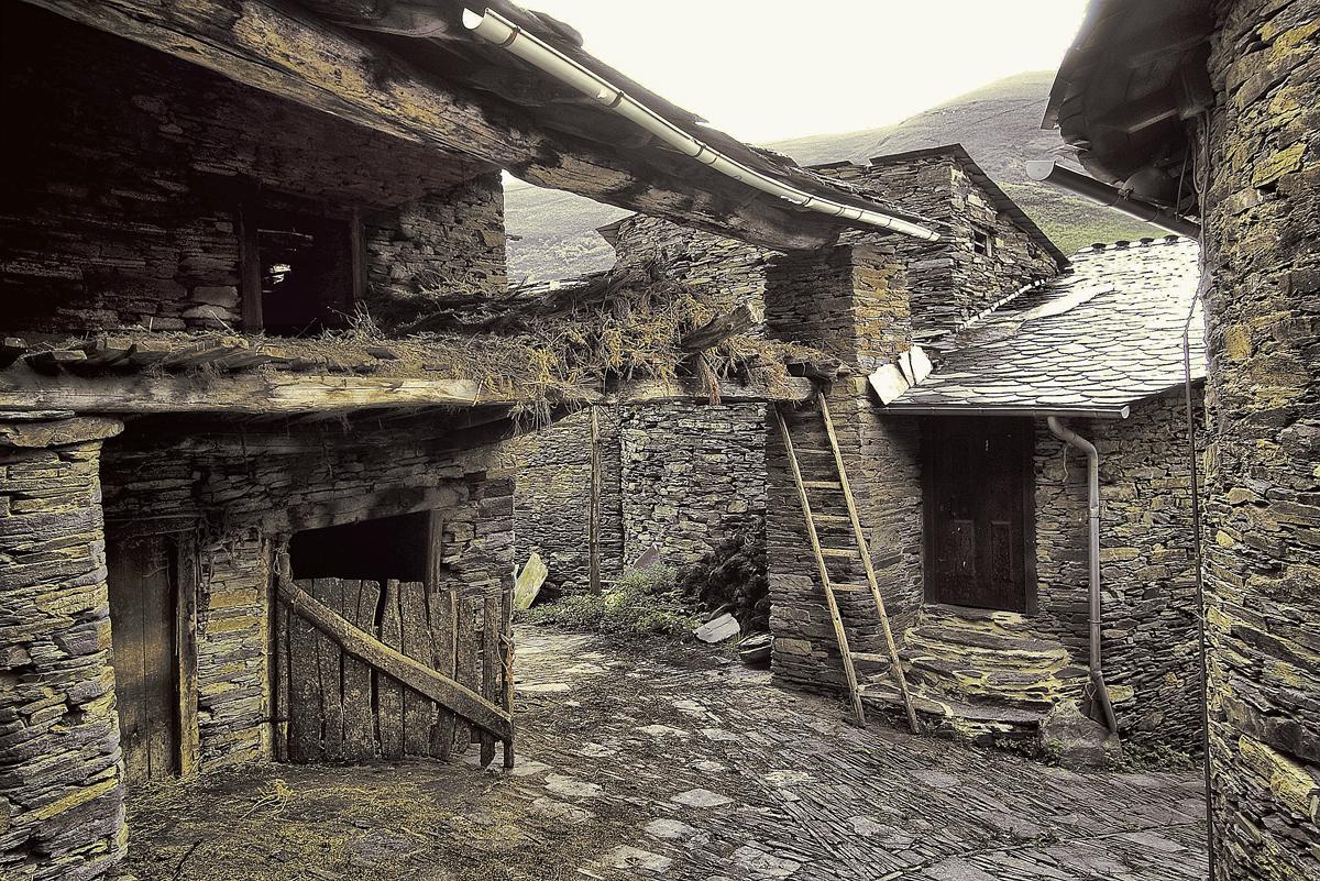 Un rincón en una aldea