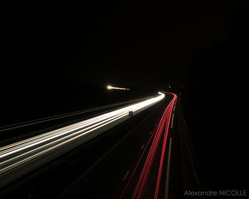 Un soir d'hiver sur l'Autoroute de l'Est