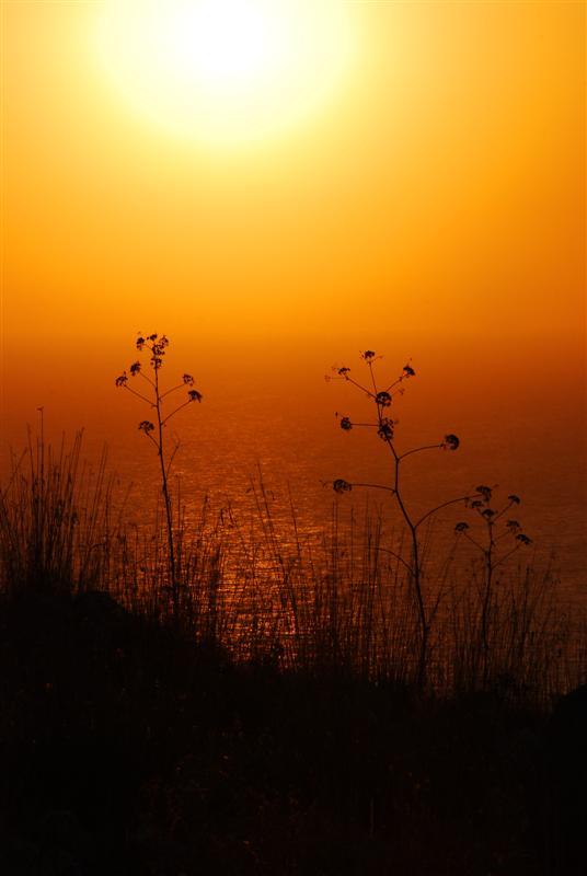 Un sole rosso acceso ...