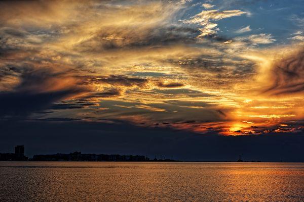 un tramonto d'inverno...