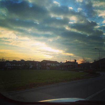 Un tramonto in città