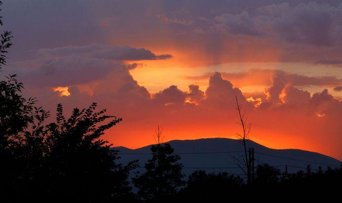 Un tramonto infuocato....