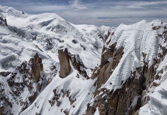 Un trocito de Alpes con 16 escaladores