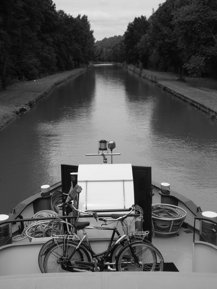Un vélo à flot ...