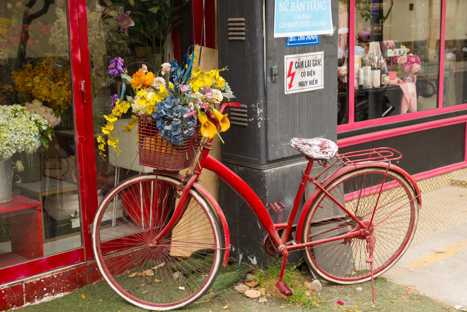 Un vélo à Saïgon