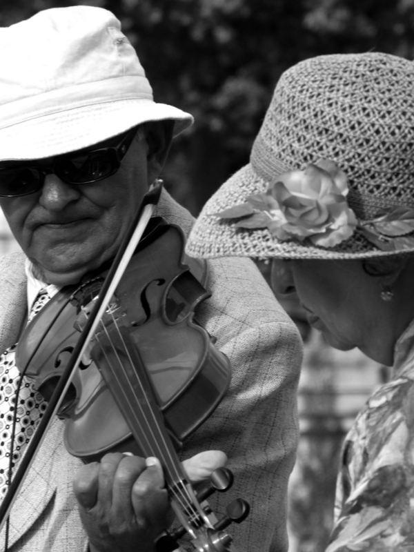 un violon pour 2