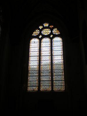 Un vitrail au chateau d'Ecouen