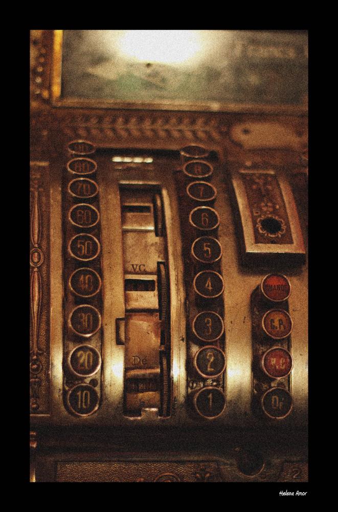 Una antigua caja registradora belga