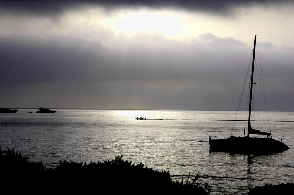 Una barchetta in mezzo al mare