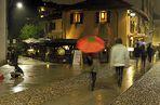 una brutta serata di pioggia