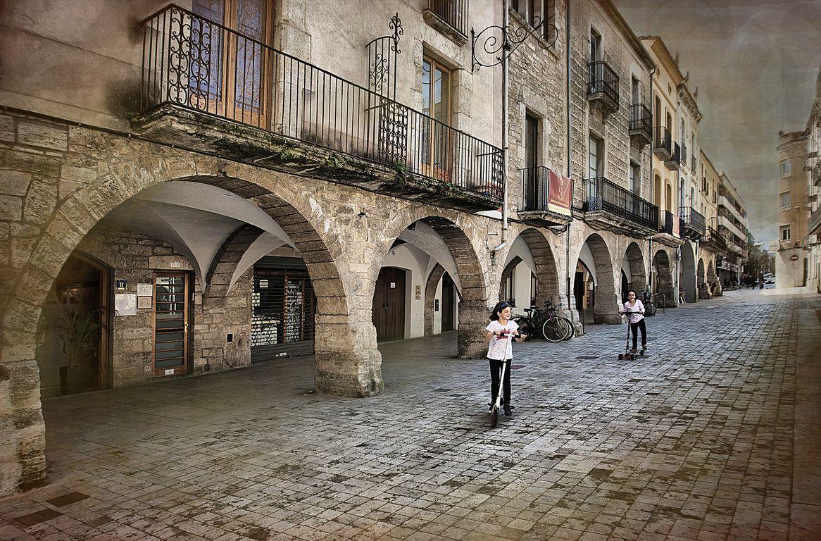 Una calle de Banyoles (Girona)