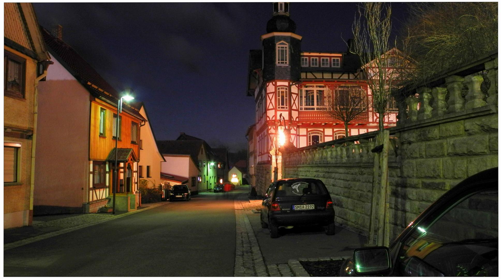 Una calle de mi pueblo anoche
