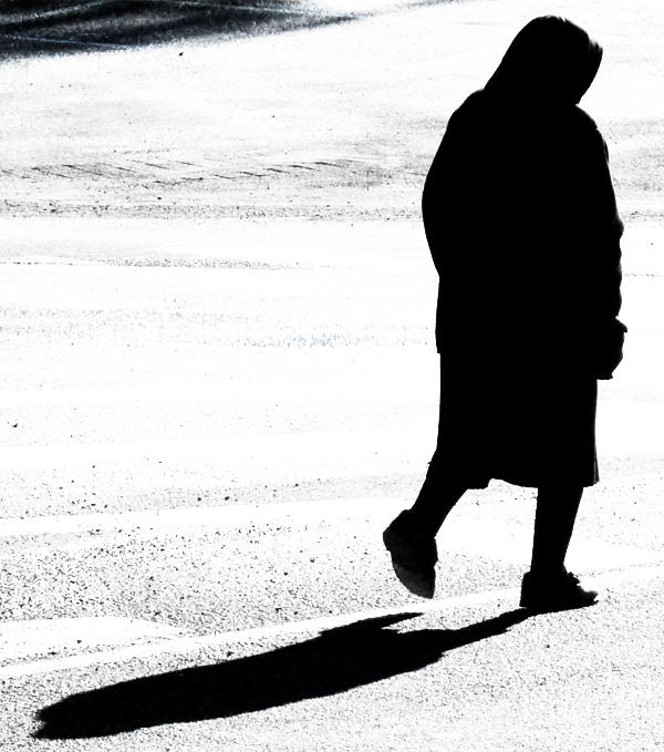 Una donna in nero