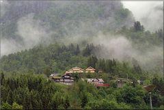 Una mattina piovosa a Geiranger.