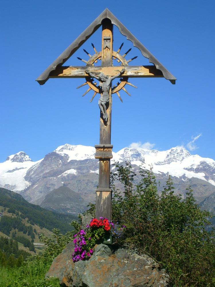 Una preghiera verso il Monte Rosa