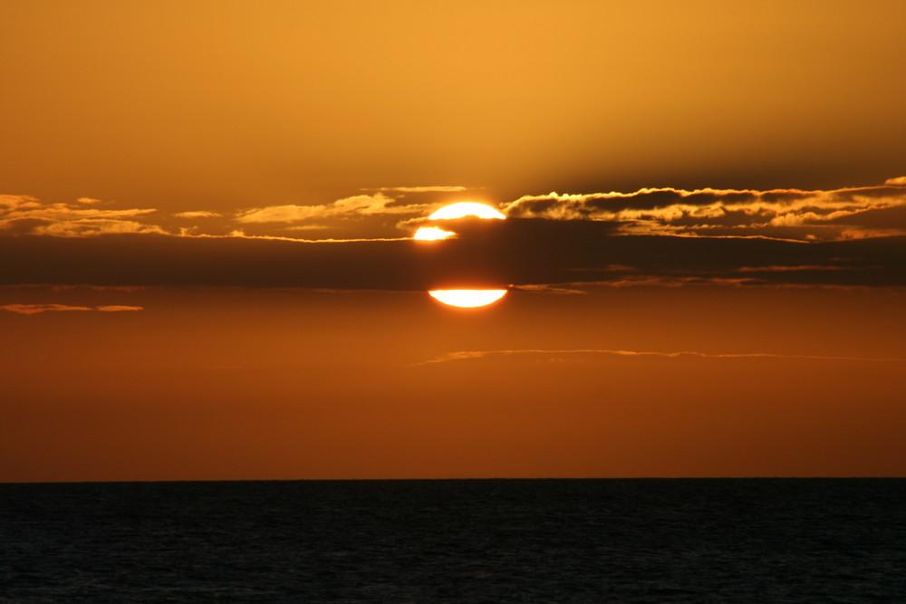 Una puesta del Sol