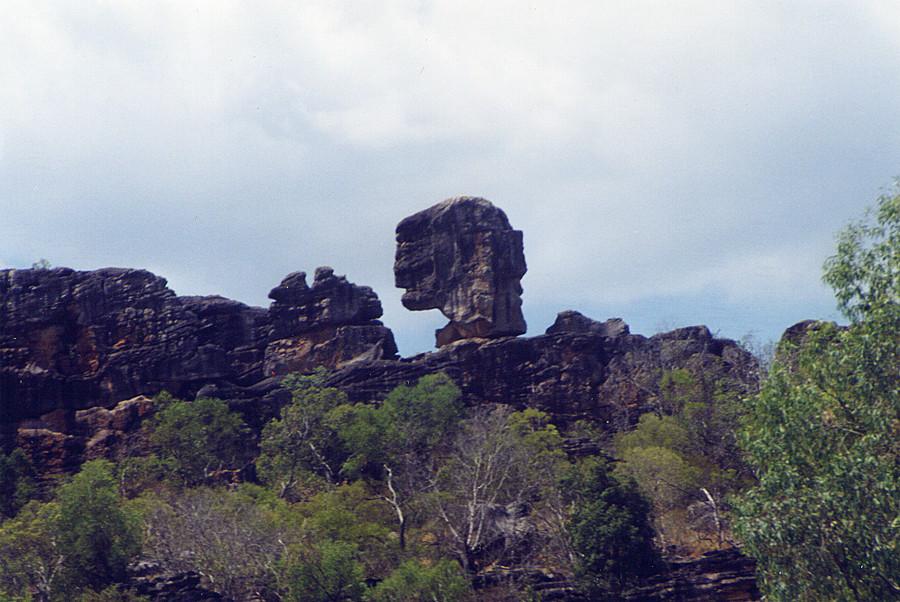 Una roccia alquanto bizzarra