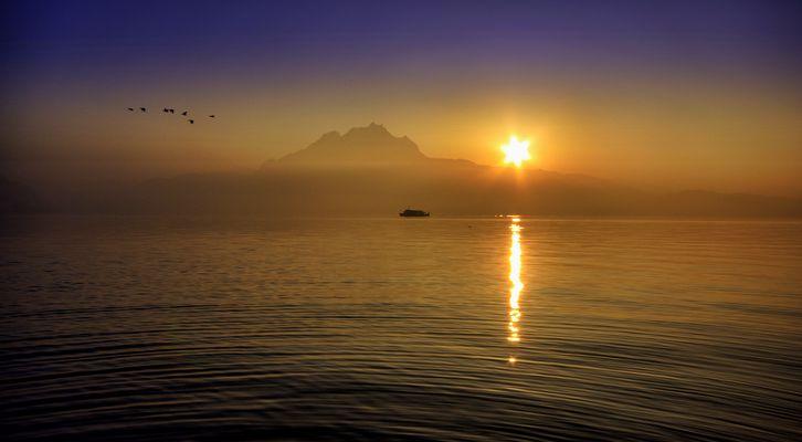 Und die Sonne verschwindet hinter dem Pilatus...