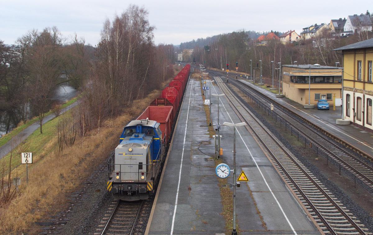 Und es kam sogar ein Güterzug vorbei