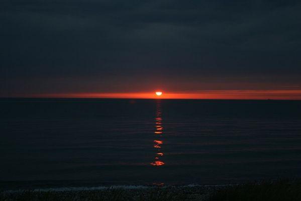 Und es wurde Abend am Strand von Wallnau II...