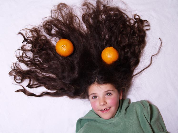 ...und in den Haaren Orangen
