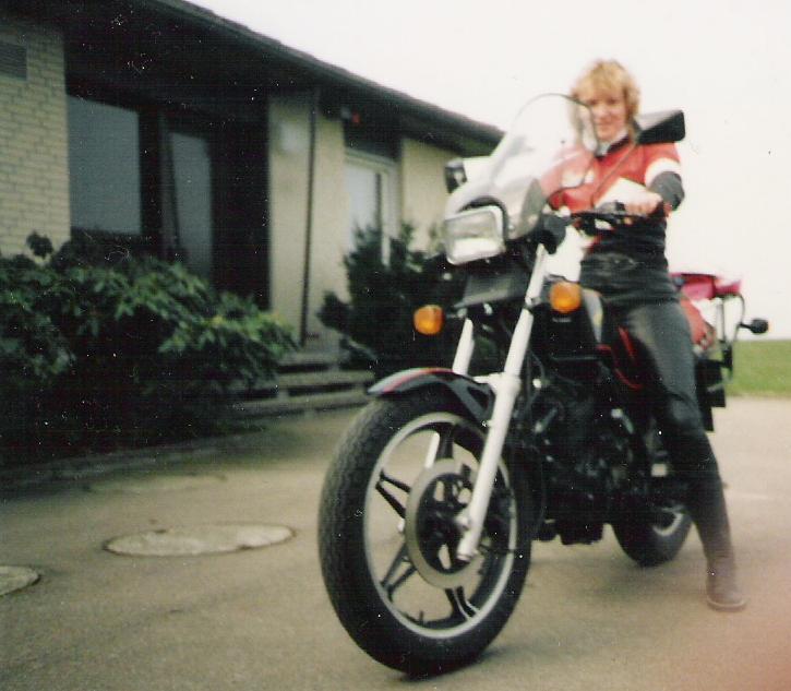 ..und mein erstes Motorrad...