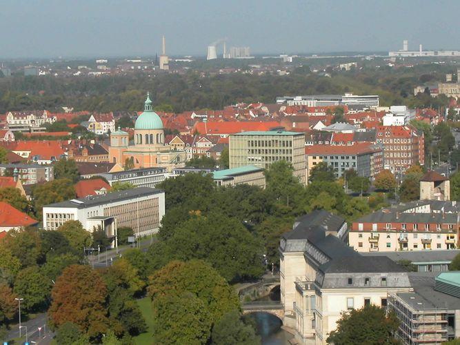 Und noch ein Blick über Hannover ...