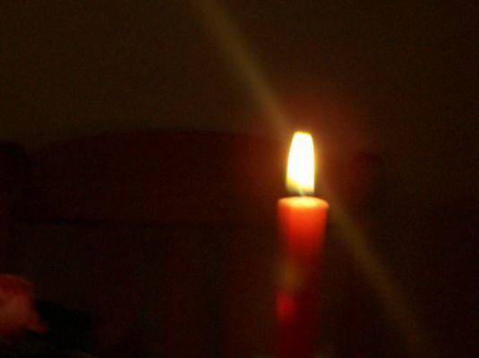 ...und noch näher an die Kerzen ran....(Foto: Laura Risch)
