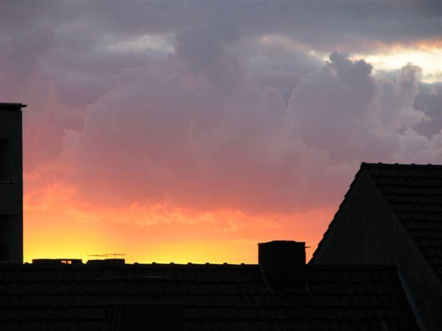und nochmal der Abendhimmel schön gefärbt