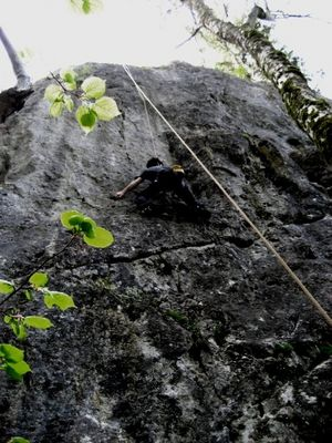 ..und schon wieder am Fels